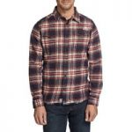 Weird Fish Ashburton Flannel Check Long Sleeve Shirt Crimson Size M