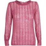 Weird Fish Ukington Pointelle Knit Jumper Rose Size 14