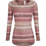 Weird Fish Langley Jacquard Knit Jumper Mocha Size 10