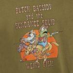 Weird Fish Butch Bassidy Artist T-Shirt Moss Green Size XL