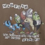 Weird Fish Madfish Artist T-Shirt Mushroom Size 3XL