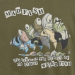 Weird Fish Madfish Artist T-Shirt Moss Green Size L