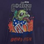 Weird Fish Codigy Artist T-Shirt Rich Navy Size XL