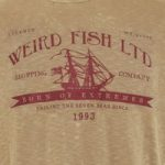 Weird Fish Shipping Printed Graphic T-Shirt Pebblestone Size S