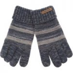 Weird Fish Red Mountain Gloves Dark Navy Size ONE