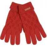 Weird Fish Kittilitz Pointelle Glove Red Size ONE