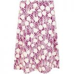Weird Fish Malmo Printed Jersey Skirt Boysenberry Size 14