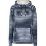 Weird Fish Juna Striped Towelling Hoodie Dark Denim Size 20