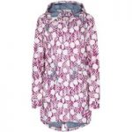Weird Fish Babylon Showerproof Printed Ripstop Parka Jacket Boysenberry Size 8