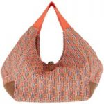 Weird Fish Maidan Jacquard Shopper Bag Dusty Orange Size ONE
