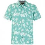 Weird Fish Mullins Hawaiian Short Sleeve Shirt Menthol Size M