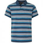 Weird Fish Bolam Stripe Polo Dusty Teal Size XL