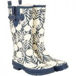 Weird Fish Sazi Printed Welly Dark Navy Size 8