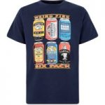 Weird Fish Six Pack Artist T-Shirt Maritime Blue Size 4XL