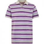 Weird Fish Bolam Stripe Polo Grey Size S
