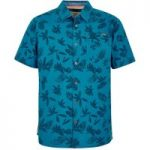 Weird Fish Mullins Hawaiian Short Sleeve Shirt Blue Jay Size 2XL