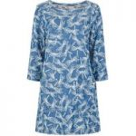 Weird Fish Shipra Printed Tencel ® Tunic Blue Surf Size 14