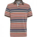 Weird Fish Calama Striped Polo Shirt Brick Red Size XL