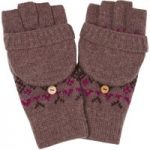 Weird Fish Cotswold Fair Isle Knit Gloves Heather Size ONE