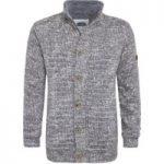 Weird Fish Jones Fur Lined Chunky Knit Jacket Dark Grey Size S