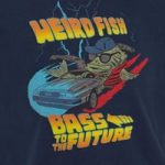 Weird Fish Bass To The Future Artist T-Shirt Estate blue Size 7-8