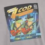 Weird Fish Zz Cod Artist T-Shirt Blue Pale Silver Size L