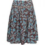 Weird Fish Potosi Printed Skirt with Pin Tuck Peppercorn Size 18