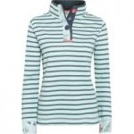 Weird Fish Costa Striped Pique Sweatshirt Mint Green Size 18