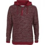 Weird Fish Olt Button Neck Macaroni Hoody Pinot Red Size S