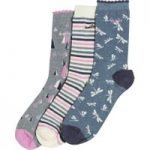 Weird Fish Parade Decorative Socks 3 Pack Pale Violet Size 4-7