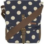 Weird Fish Samla Classic Patterned Canvas Cross Body Bag Dark Navy Size ONE