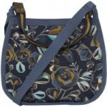 Weird Fish Sola All Over Print Canvas Cross Body Bag Dark Navy Size ONE