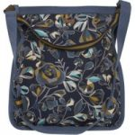 Weird Fish Hermitage All Over Print Canvas Shopper Bag Dark Navy Size ONE