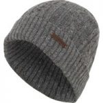 Weird Fish Swiftsure Cable Soft Knitted Beanie Hat Frost Grey Size ONE