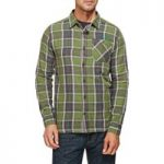 Weird Fish Crusader Check Long Sleeve Shirt Cactus Green Size S